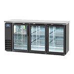 "Arctic Air ABB72G 73"" (3) Section Bar Refrigerator - Swinging Glass Doors,115v"