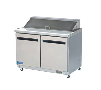 "Arctic Air AMT48R 48"" Sandwich/Salad Prep Table w/ Refrigerated Base, 115v"