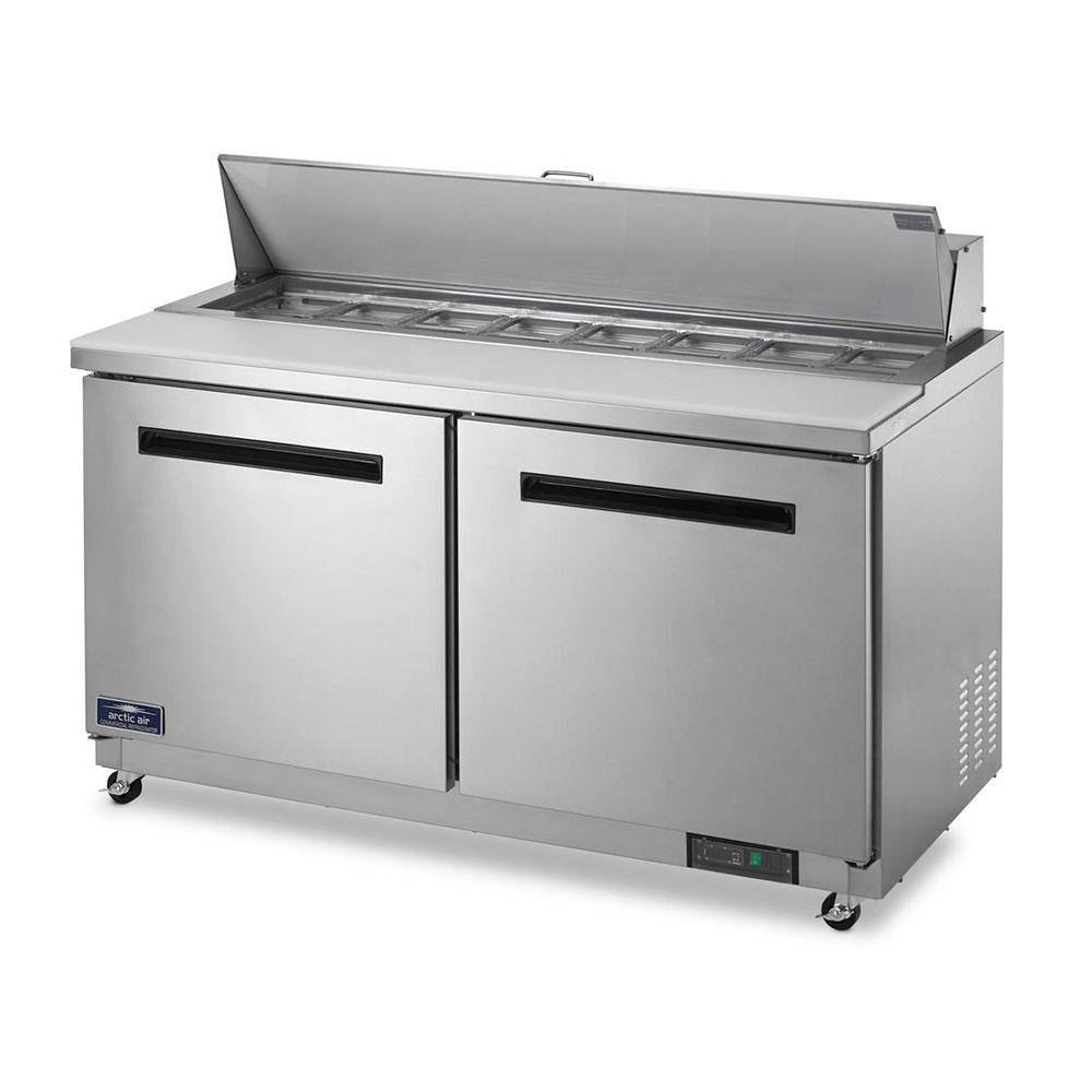 "Arctic Air AST60R 61.25"" Sandwich/Salad Prep Table w/ Refrigerated Base, 115v"