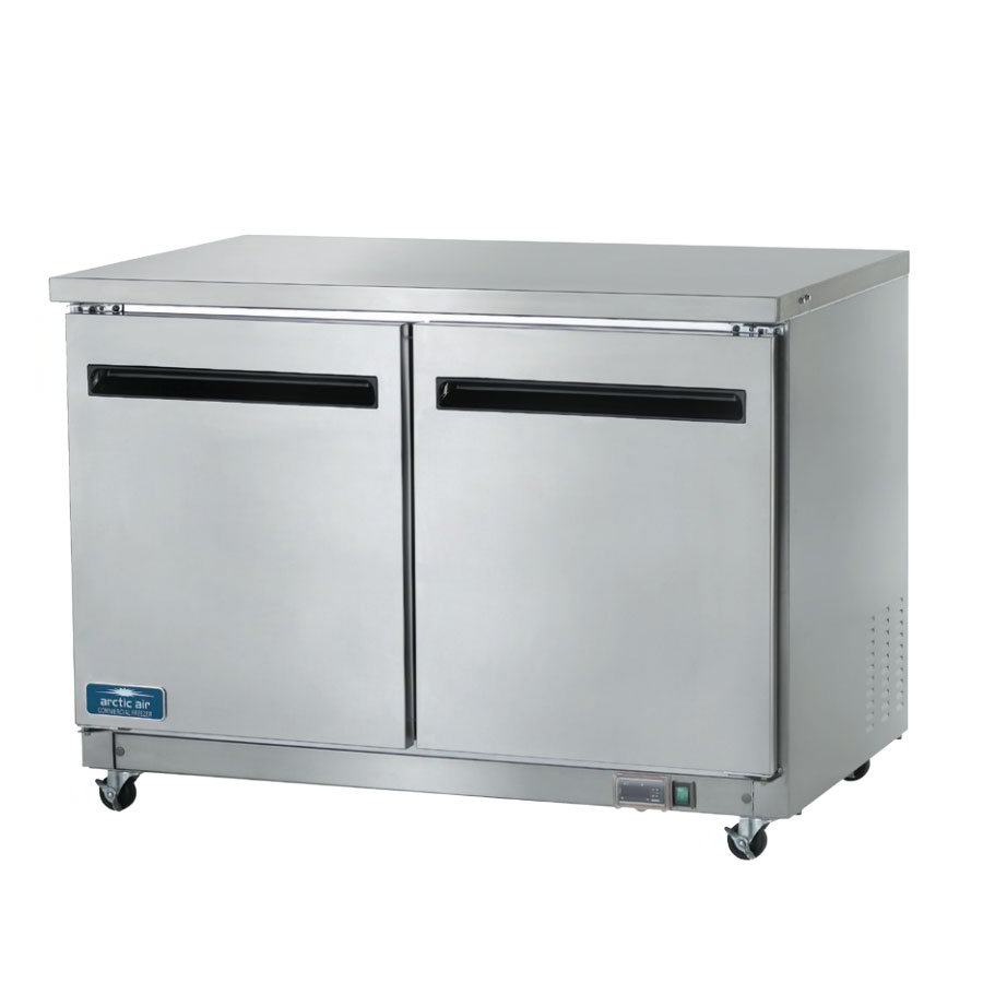 Arctic Air AUC48F 12-cu ft Undercounter Freezer w/ (2) Sections & (2) Doors, 115v