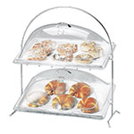"Cal-Mil 1001 Arch Wire Frame w/ 2-Sloped Tiers, 23.5 x 12.5 x 26"", Chrome"