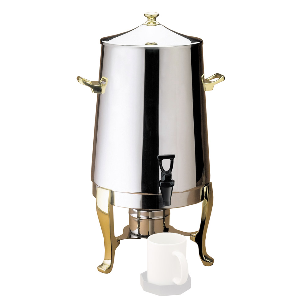Cal-Mil 1009 Coffee Urn w/ Fuel Pot & (65) 8-oz Cup Capacity, Stainless Body