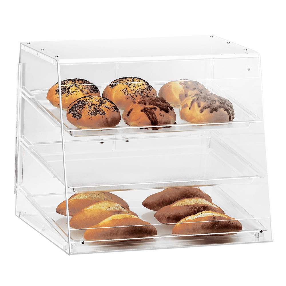 Cal-Mil 1011 Pastry Display Case w/ Slant Front, 19.5 x 17 x 16.5-in