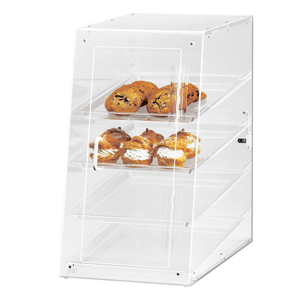 Cal-Mil 1012-S Econo Case w/ Slant Self Serve Front & 4-Tray, 13.5 x 21 x 24.5""