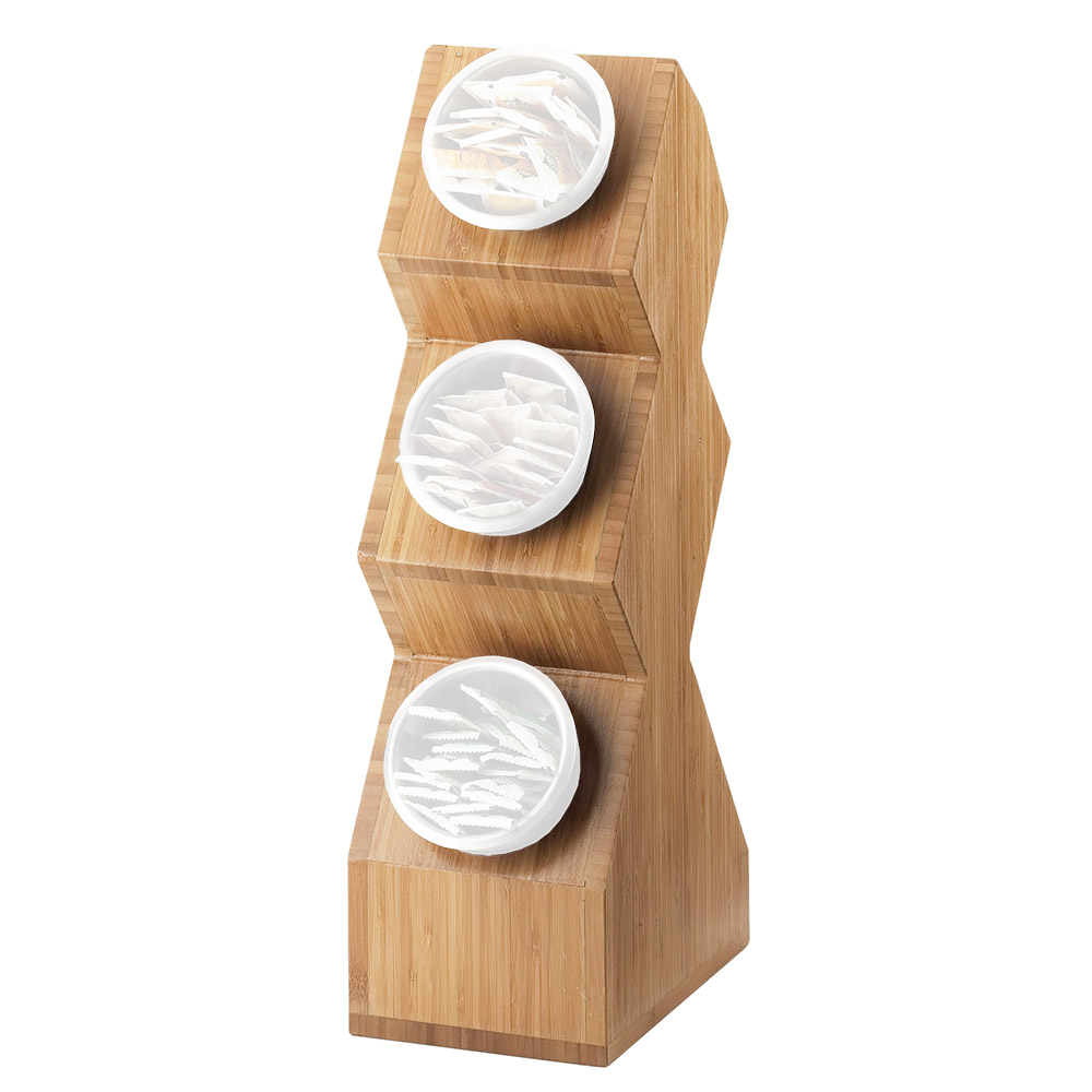 Cal-Mil 1016-3-60 3-Compartment Cylinder Space Saver Display Only - Bamboo