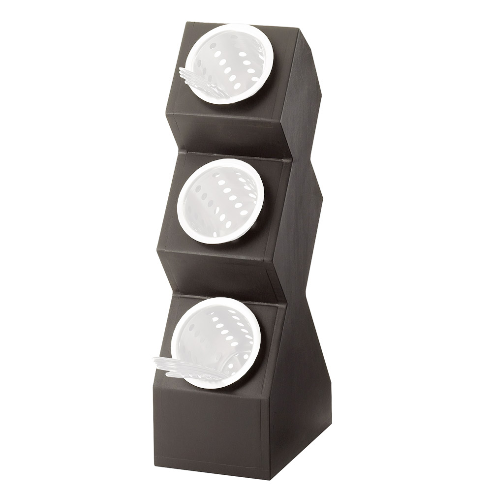 Cal-Mil 1016-3-96 3-Compartment Cylinder Space Saver Display Only - Midnight Bamboo