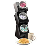 Cal-Mil 1016-3S Space Saver 3-Hole Condiment Organizer w/ 3-Solid Cylinders