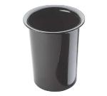 Cal-Mil 101713 4.5-in Round Melamine Cutlery Cylinder, Black