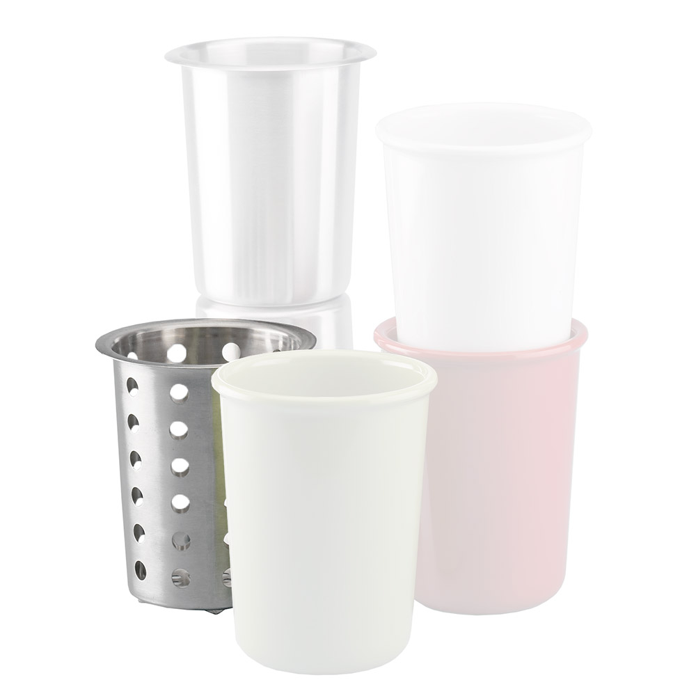 """Cal-Mil 1017-39 Perforated Cutlery Cylinder, 4.5 x 5.5"""" High"""