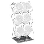 "Cal-Mil 1025-6-13 6-Hole Vertical Wire Silverware Display, 9.5 x 8 x 20"" H, Black"