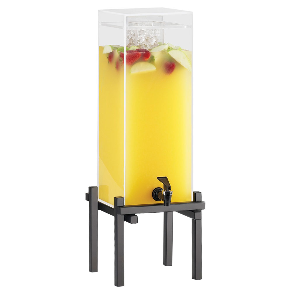 Cal-Mil 1132-1-13 1.5-gal Beverage Dispenser - Drip Tray, Acrylic, Black