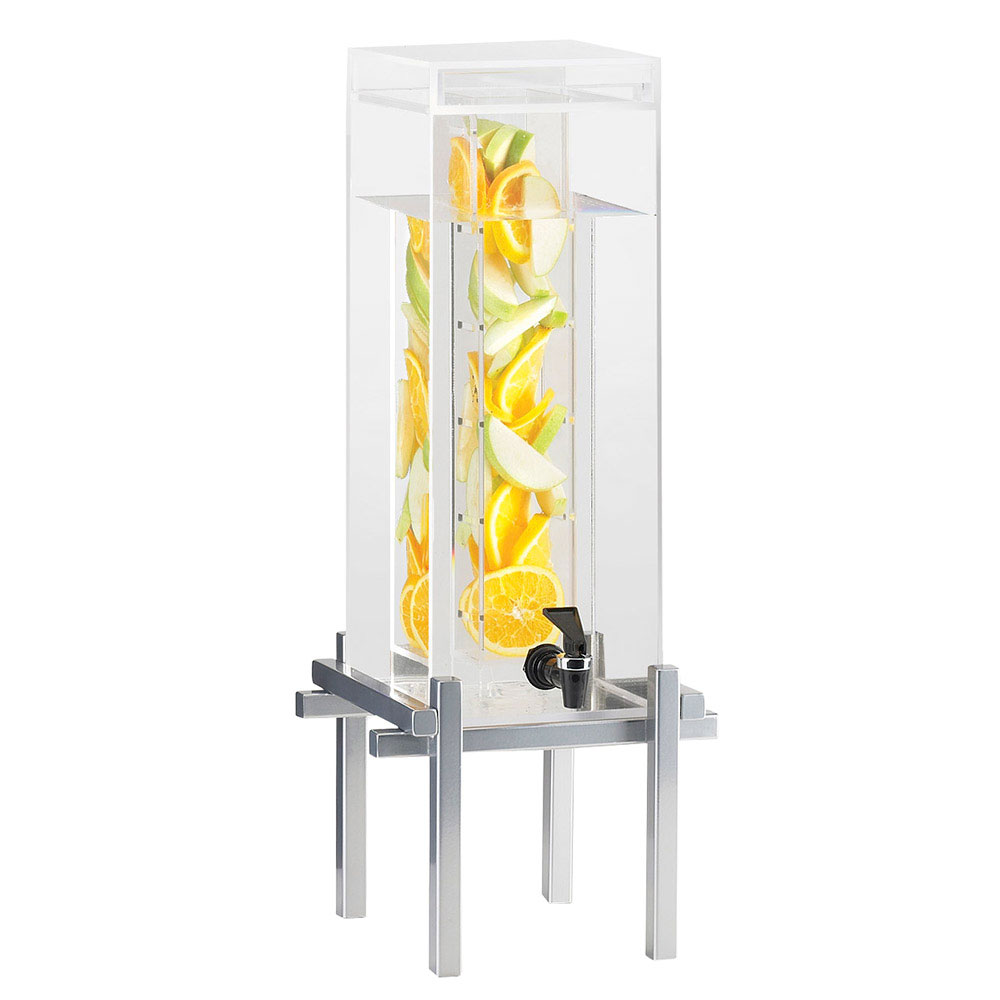 Cal-Mil 1132-1INF-74 1.5-gal Beverage Dispenser - Drip Tray, Acrylic, Silver