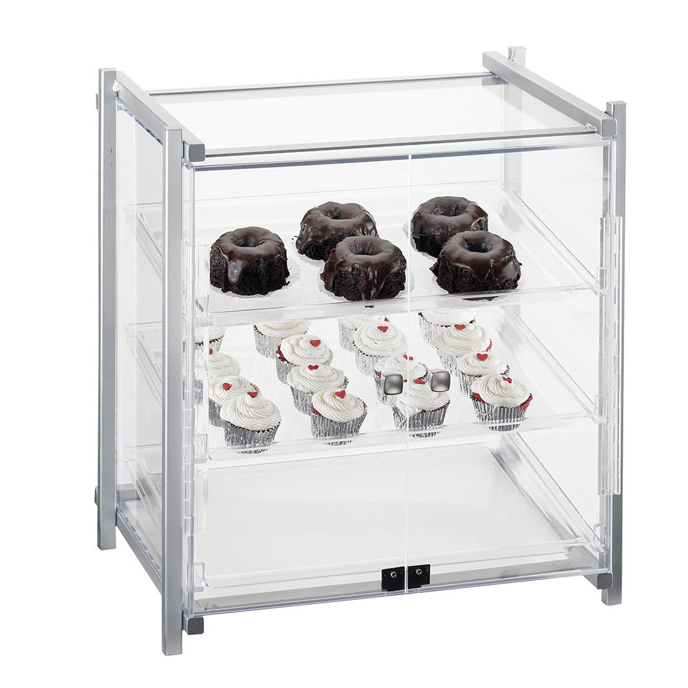 "Cal-Mil 1145-13 Display Case - Attendant Serve, See-Thru, 20-1/2x17x22"", Black"