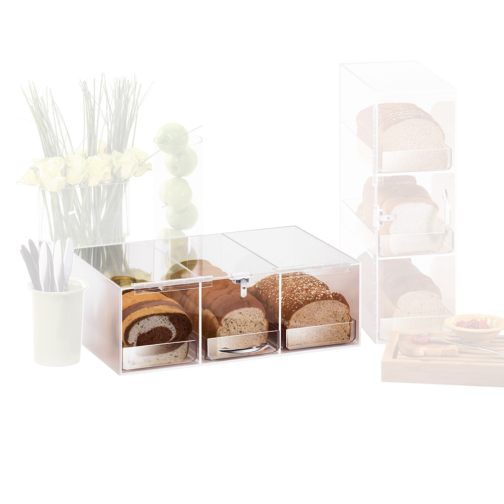 "Cal-Mil 1204 Bread Box w/ 3-Bins & Frosted Top, 7 x 12 x 20"" High"