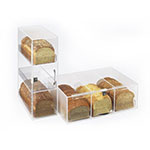 "Cal-Mil 1204P-12 3-Tier Bread Case - 7"" x 17"" x 20"", Acrylic"