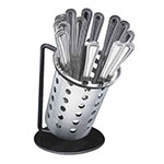 "Cal-Mil 1226-13-PERF 6"" Flatware Display w/ Perforated Flatware Cylinder - Iron, Black"