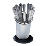 "Cal-Mil 1226-39-SOLID 6"" Solid Cutlery Holder w/ Iron Silver Base"