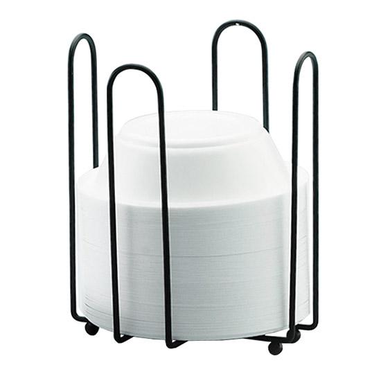 "Cal-Mil 1237 Bowl Holder for 6"" Bowls, Black Wire Frame, 6.5 x 6.5 x 8"" H"