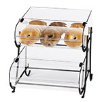 "Cal-Mil 1280-2 2-Tier Display Stand w/ (2) 10 x 14"" Round Nose Bin & Wire Frame"
