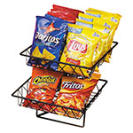 "Cal-Mil 1293-2 2-Tier Display Rack w/ 12"" Square Wire Baskets, Black Wire"