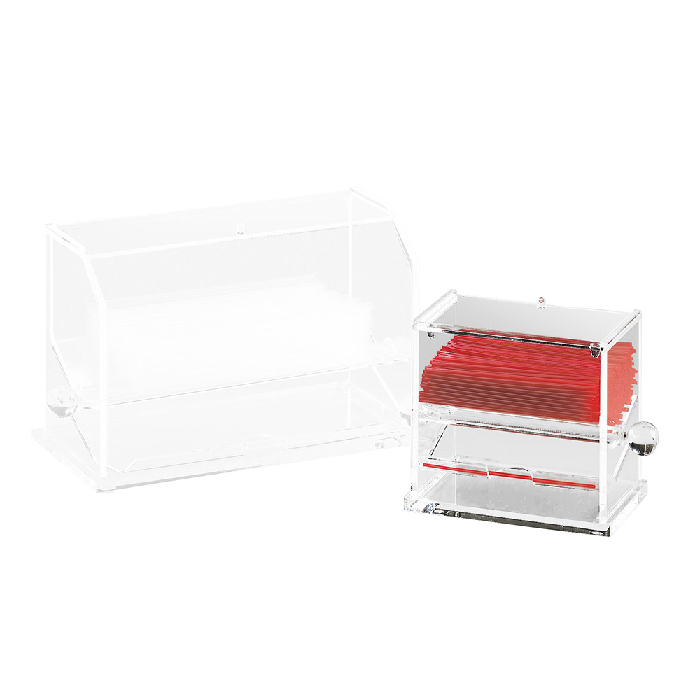 Cal-Mil 1311 Acrylic Stir-Stick Dispenser, Clear