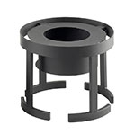 "Cal-Mil 1344-10-13 Round Chafer Alternative - 12-3/4x10"", Black"