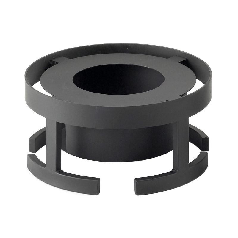 "Cal-Mil 1344-7-13 Round Chafer Alternative - 12-3/4x7"", Black"