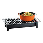 "Cal-Mil 1348-22-13 Modern Style Chafer Alternative, 22 x 12 x 4"" H, Black"