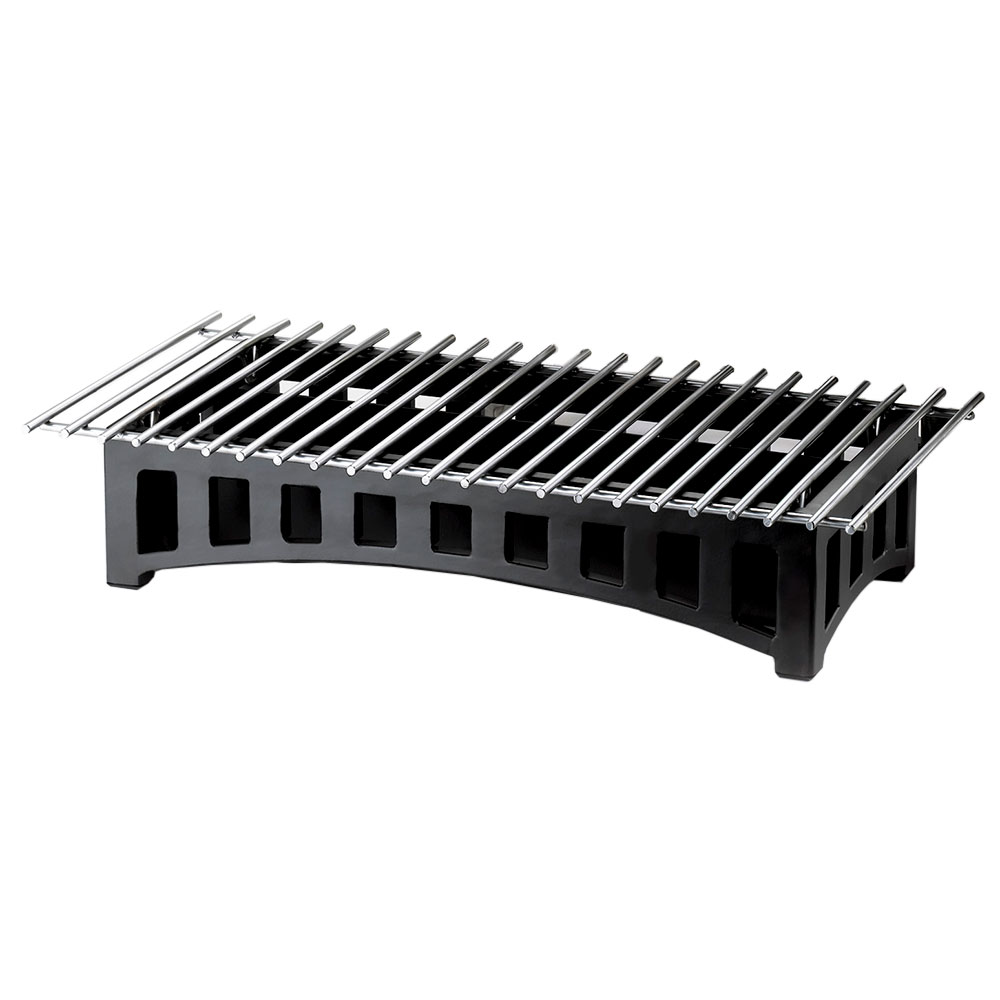 "Cal-Mil 1364-22-13 Bridge Style Chafer Alternative, 22 x 12 x 4"" H, Black"