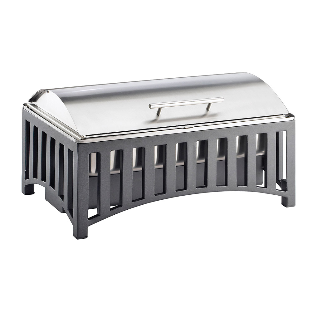 Cal-Mil 1368-13 Roll Top Chafer w/ Pan, 21.75 x 13.75 x 8.5""