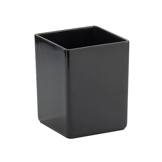 "Cal-Mil 1391-13M Cater Choice Box - 5x5x6"", Melamine, Black"