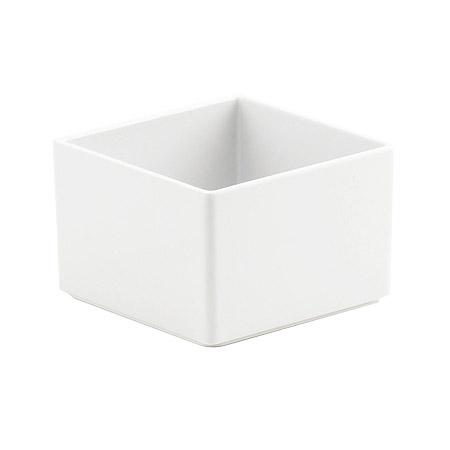 "Cal-Mil 1395-15M Cater Choice Box - 5x5x3"", Melamine, White"