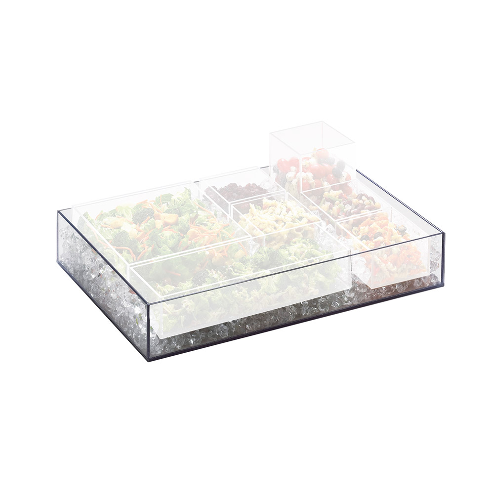 Cal-Mil 1396-12 Clear Cater Choice Tray for Cater Choice System, 15 x 5 x 3""