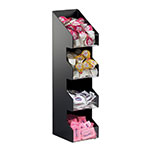 Cal-Mil 1423 4-Tier Condiment Organizer w/ (4) 5 x 6-in Bins, Black ABS