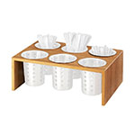 Cal-Mil 1425-6-60 Bamboo Cylinder & Crock Display w/ 6-Holes