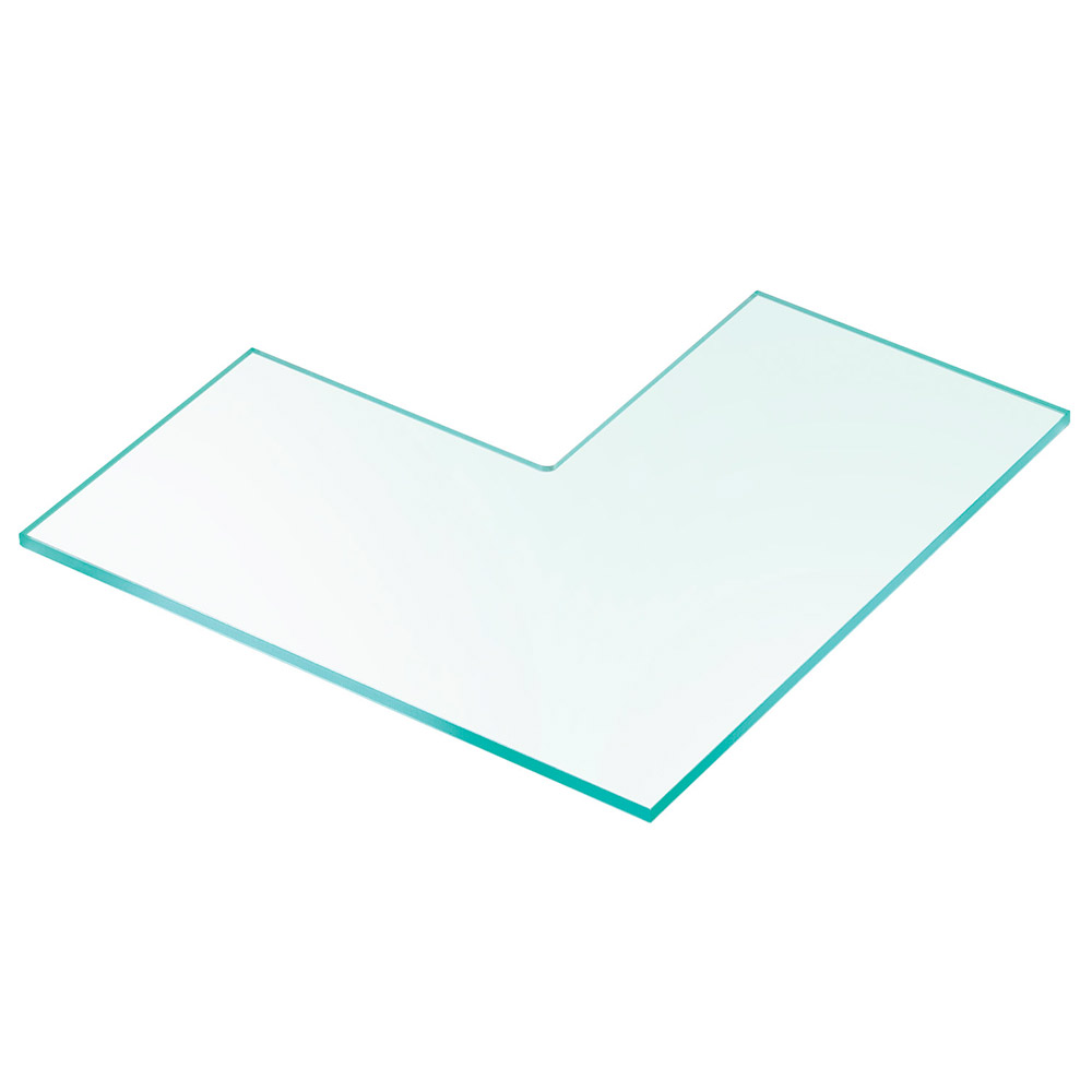 Cal-Mil 1431-16 16-in Acrylic Riser Shelf w/ Right Angle