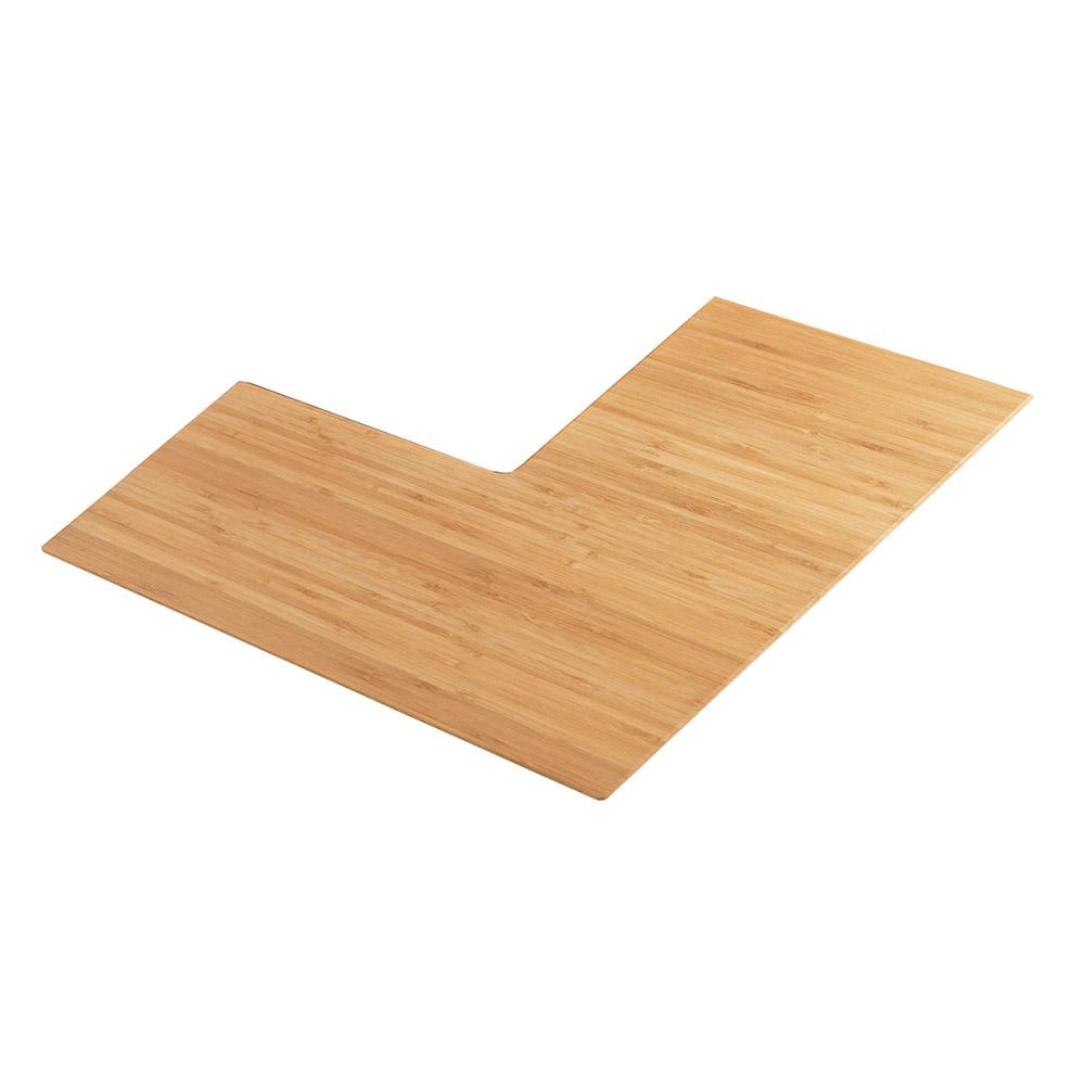 "Cal-Mil 1431-24-60 Angled Shelf Riser - 24"", Bamboo"