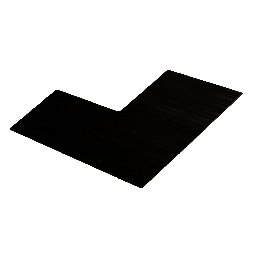 "Cal-Mil 1431-24-96 2"" Angled Riser Shelf - Midnight"