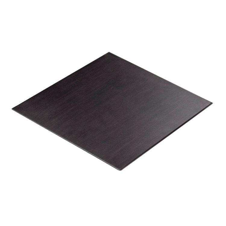 "Cal-Mil 1435-1212-96 12"" Square Tray Riser Shelf - Midnight"