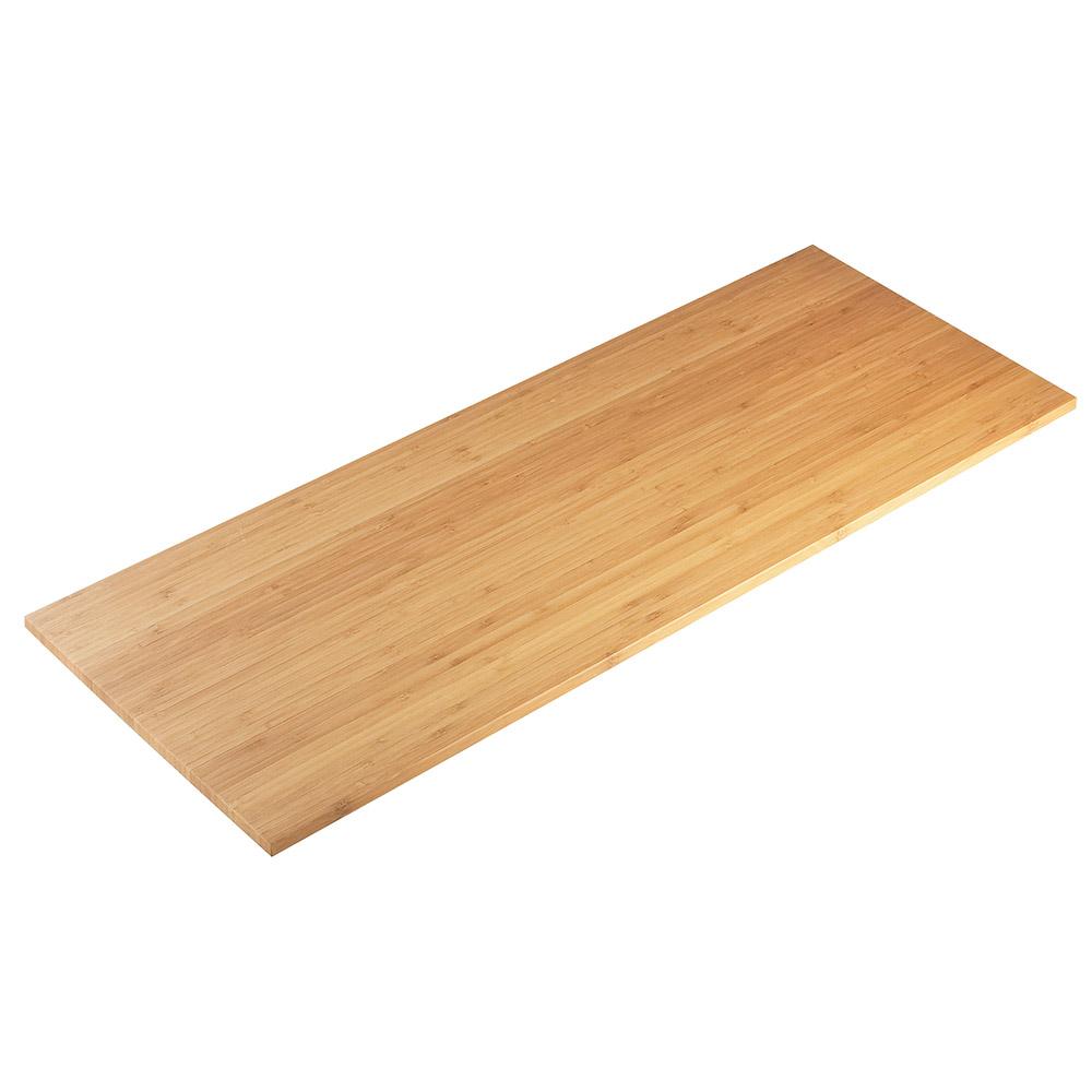 "Cal-Mil 1435-1232-60 Rectangular Tray Riser Shelf - 12x32"", Bamboo"