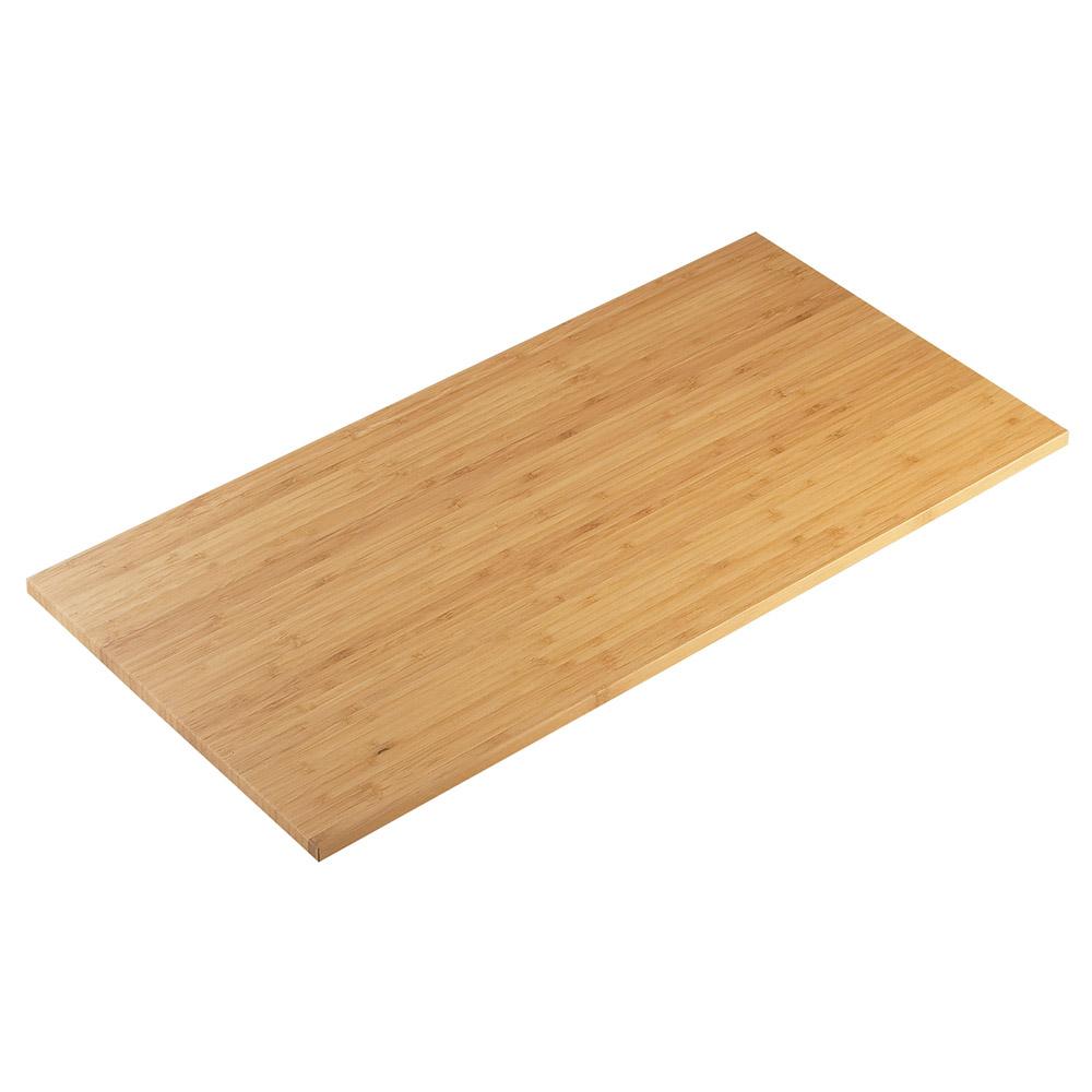"Cal-Mil 1435-1248-60 Rectangular Tray Riser Shelf - 12x48"", Bamboo"