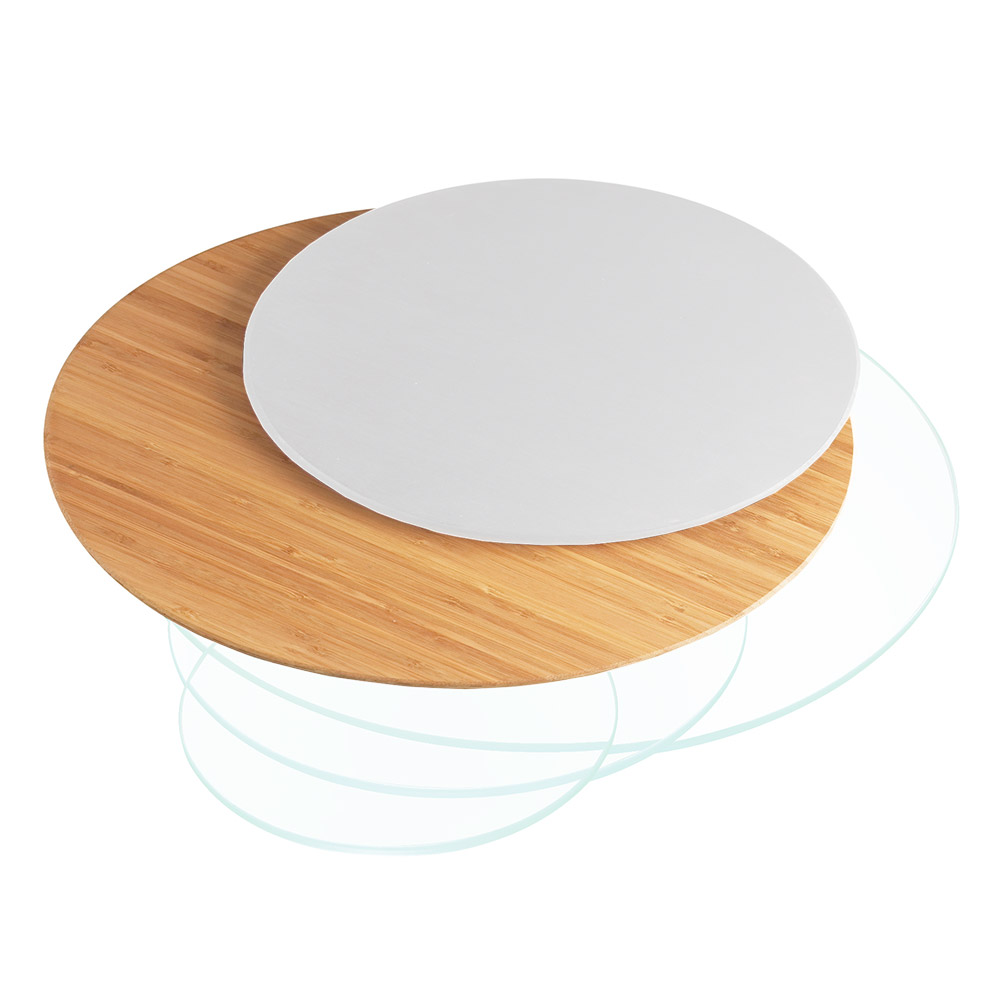 "Cal-Mil 1443-24-60 24"" Round Display Riser Shelf - Bamboo"