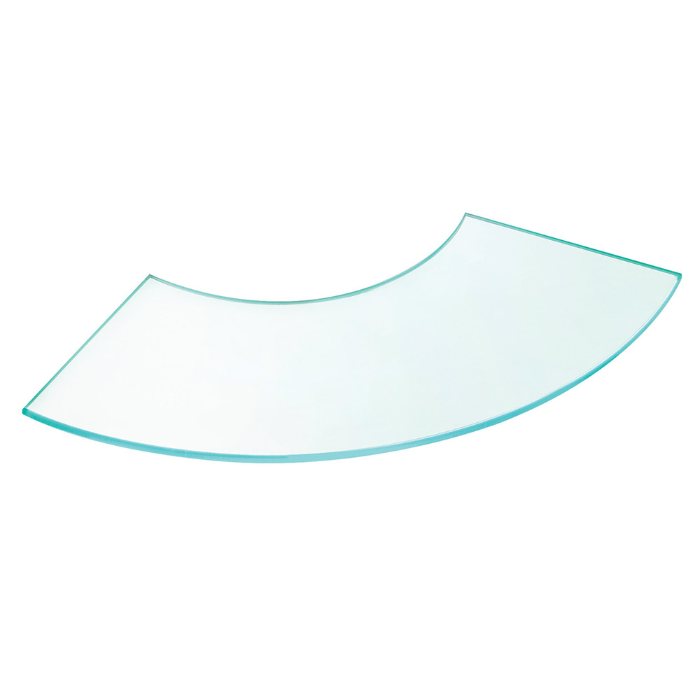 "Cal-Mil 144424 Curved Elevation Riser Shelf, 24 x 24"", Acrylic"