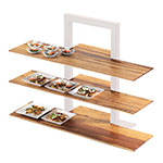 "Cal-Mil 1449-68 Crushed Bamboo Frame Riser Shelf for 1464 & 1467, 32 x 11.5"" D"