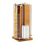 "Cal-Mil 1468 Revolving Bamboo Cup & Lid Organizer for 4"" Diameter Lids"