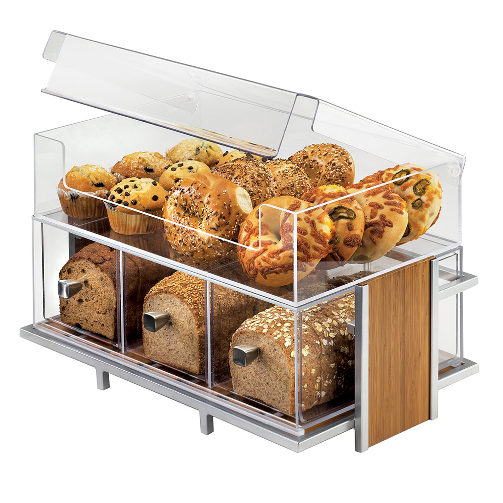 Cal-Mil 1471-SET Eco Modern Merchandiser Set - Merchandiser, Bin, 3-Drawer Bread Box