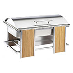 "Cal-Mil 1473 Eco Modern Chafer w/ Roll Cover & 12 x 20"" Food Pan, Stainless"