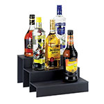 "Cal-Mil 1491-69 3-Step Bottle Display, 12 x 13 x 6.75"" High, Graphic Acrylic"