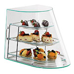 Cal-Mil 1505-3 Elite Display Case w/ Green Glass Rear Door, Silver Wire Frame