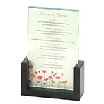 "Cal-Mil 1510-46-96 Tabletop Menu Card Holder - 4"" x 6"", Acrylic/Midnight Bamboo"